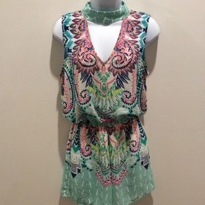 CITY TRIANGLES NWT COLORFUL ROMPER SIZE M